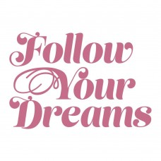 Couture Creations Peaceful Peonies Mini Stamp - Follow Your Dreams (1pc)